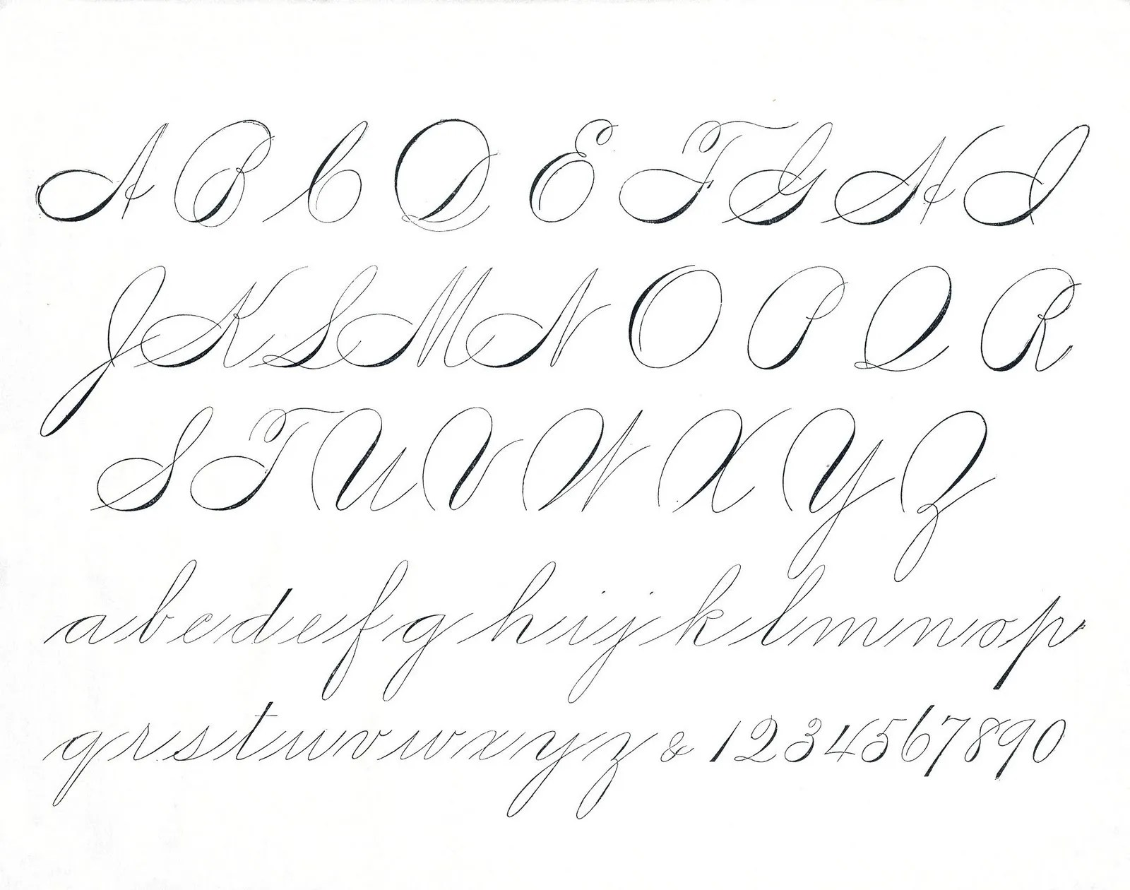 Old Fashioned Handwriting Worksheets
