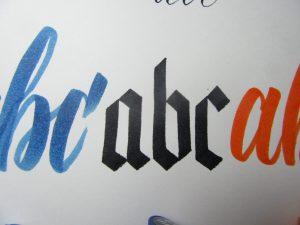 Ink on Cardstock paper test