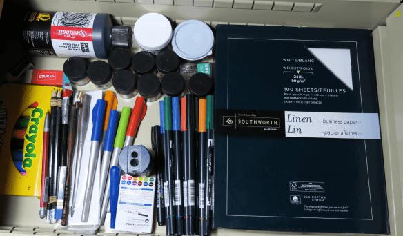 Organized calligraphy tools