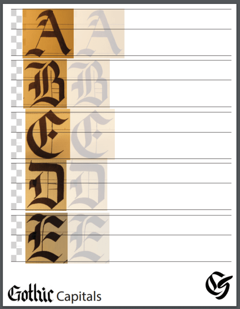 Gothic Capital Practice Sheet