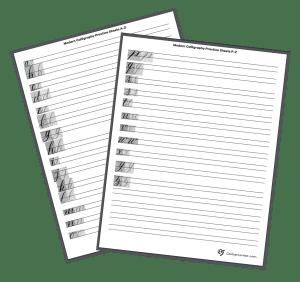 Modern Calligraphy Lowercase Alphabet Practice Sheet