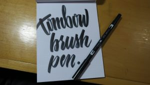 Tombow Brush Pen and modern calligraphy writing example