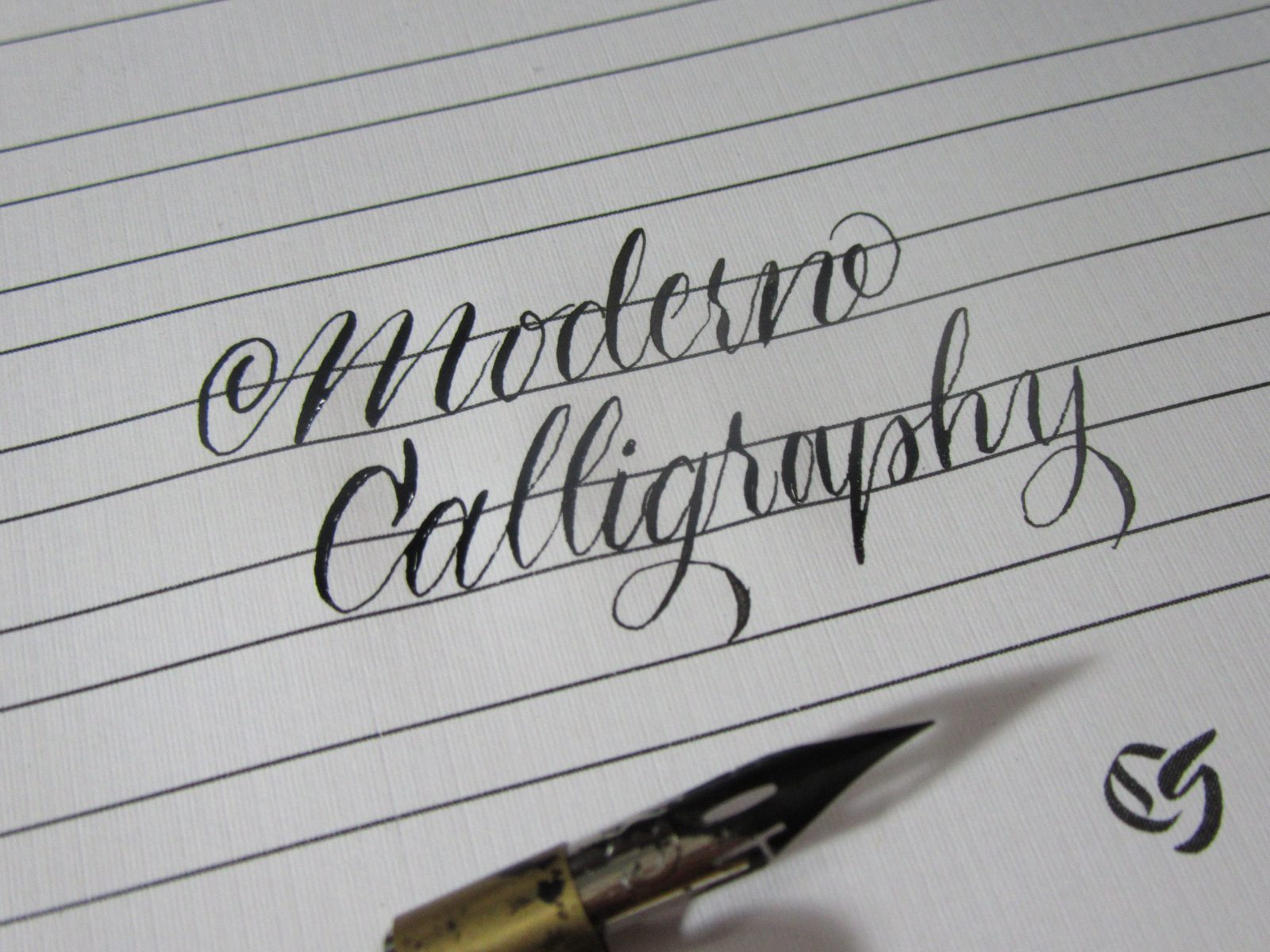 Modern Calligraphy Writing Example with pen