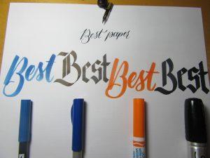 Ink on Southworth Linen Paper test Full