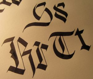 custom Blackletter