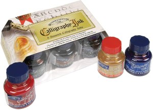 Winsor and Newton Calligraphy Ink bottle set
