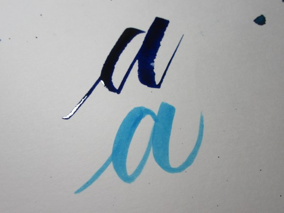 Brush Calligraphy VS Ruling Pen Calligraphy