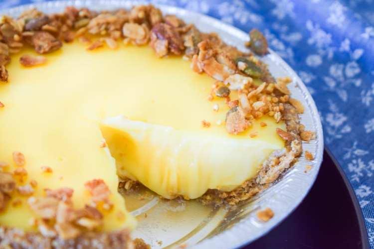 Granola Crust Pie Sliced