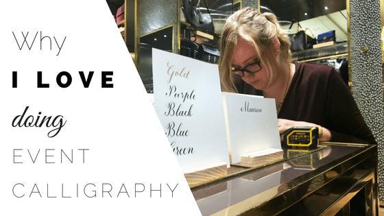 Why I Love Doing On-Site Calligraphy CalliRosa Calligrapher San Antonio Texas