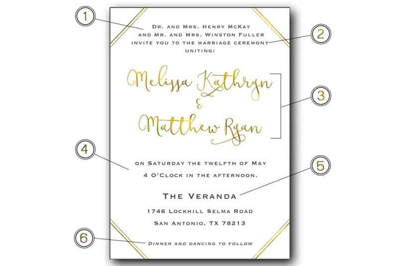 Etiquette 101 Wording of your Wedding Invitations by CalliRosa San Antonio Wedding Stationer