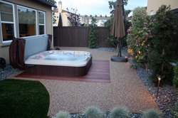 jacuzzi on patio