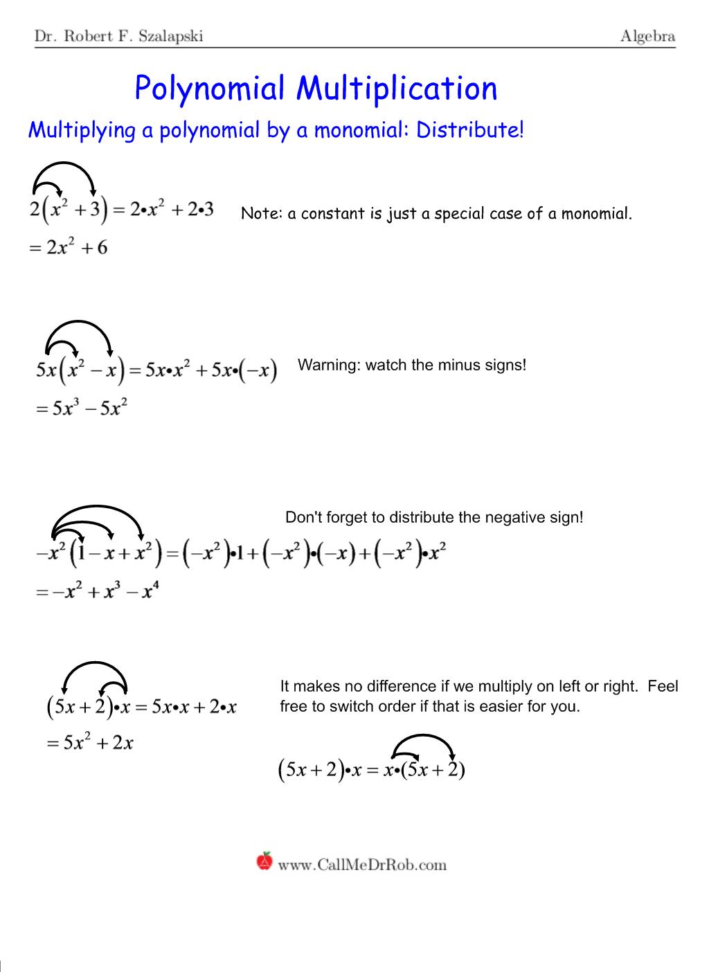 Monomial Multiplication