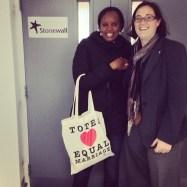LONDON: Naome Ruzindana visits Stonewall HQ, October 2012