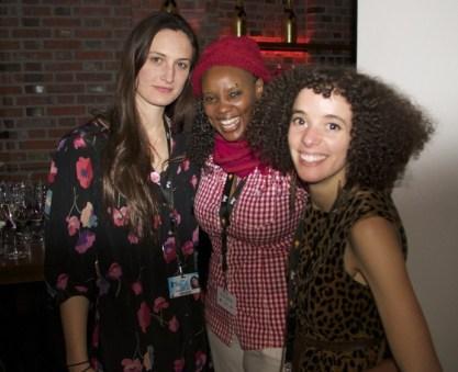 BERLIN: Katherine, Naome & Malika celebrate the world premiere of CALL ME KUCHU at the Berlin Film Festival, February 2012