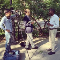 NEW YORK: The BBC interviews Robert, one of the activists featured in the film, in NYC's Washington Square Park ahead of the June 2013 theatrical opening.