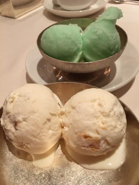 Honey Dew sorbet / Butter Almond ice cream