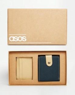 Coffret porte-carte et porte-feuille, Asos, 16,99 euros