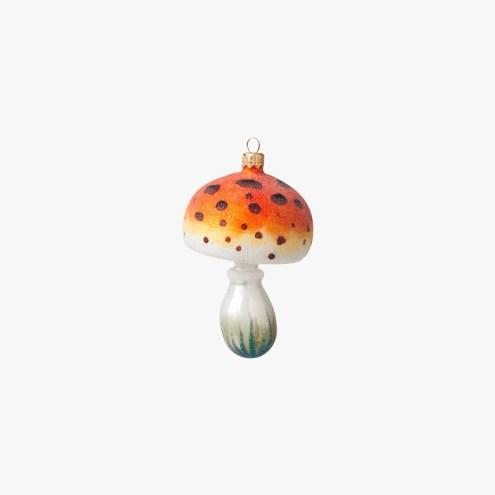Boule champignon orange et blanc, Le Bon Marché, 15 euros