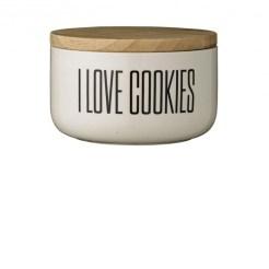 Pot plat avec couvercle bambou, Love Cookies, Bloomingville, 29,90 euros