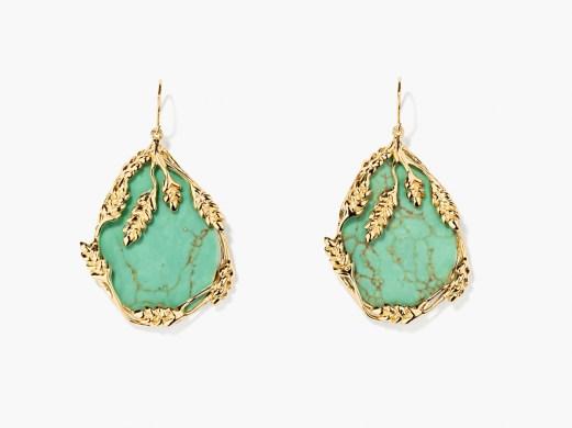 Boucles d'oreilles Françoise turquoise, Aurélie Bidermann, 280 euros