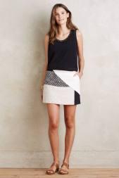 Jupe culotte patchwork Codie, Elevenses (Anthropologie) 127 euros
