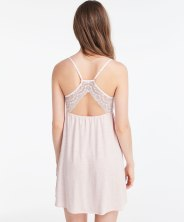 Chemise de nuit détails blonde, Oysho, 27,99 euros