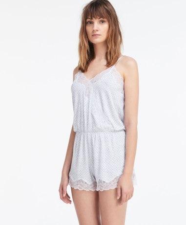Combinaison lingerie mauve, Oysho, 29,99 euros