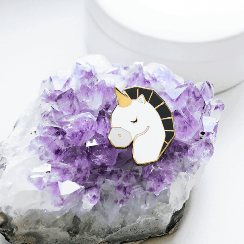 Broche Grey Unicorn, Sketch Inc., 16 euros