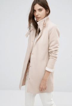 Manteau à col cheminée, Vila, 70 euros