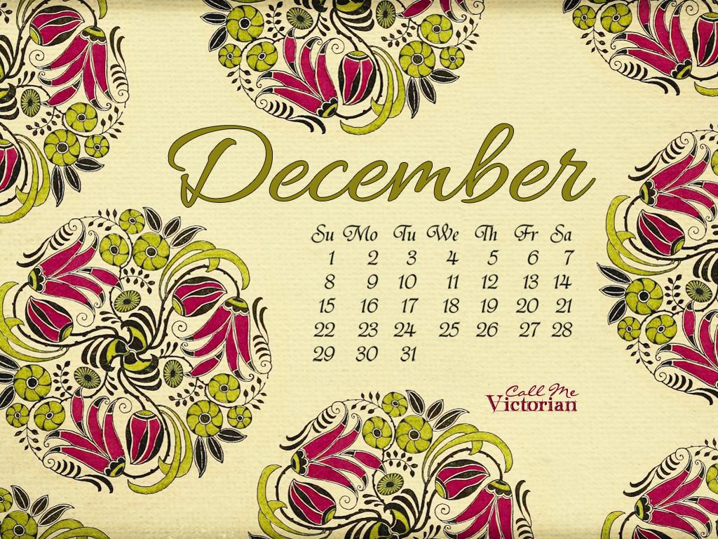 December Desktop Calendar Wallpaper