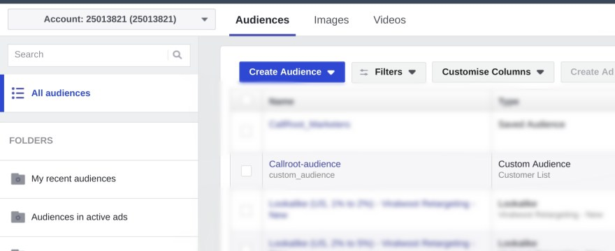 Convert incoming calls into Facebook Ad Audience