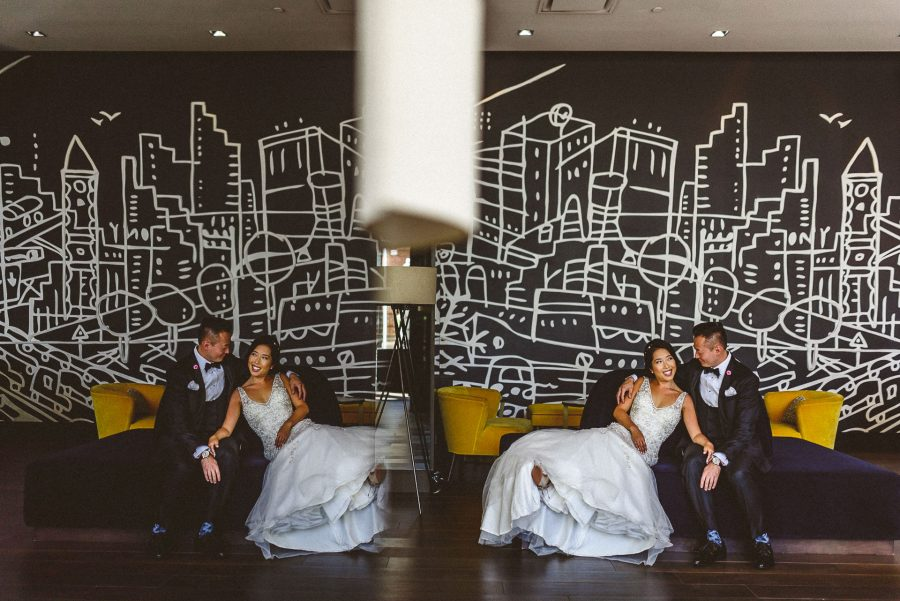 Thompson Hotel Wedding of bride and groom