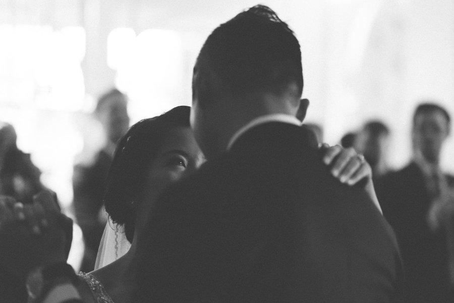 First dance during wedding reception