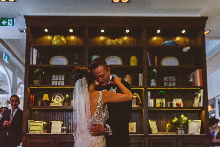 First dance at wedding reception at Colette Restaurant