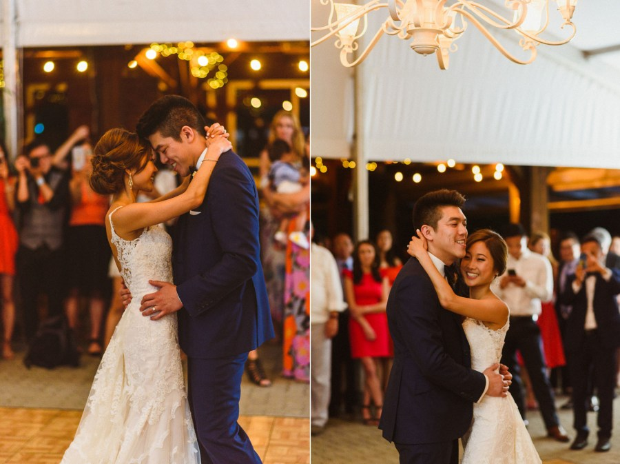 Bride Groom First Dance at Pheasent Run Golf Course Wedding