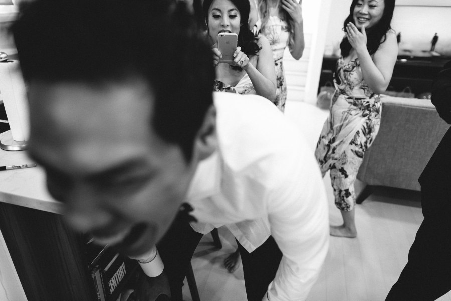 candid moment at Pheasent Run Golf Course Wedding
