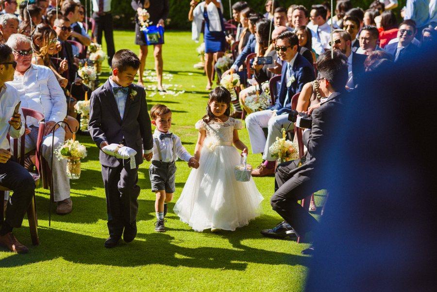 flower girl and ring bearer at Pheasent Run Golf Course Wedding
