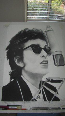 Bob Dylan - Charcoal drawing