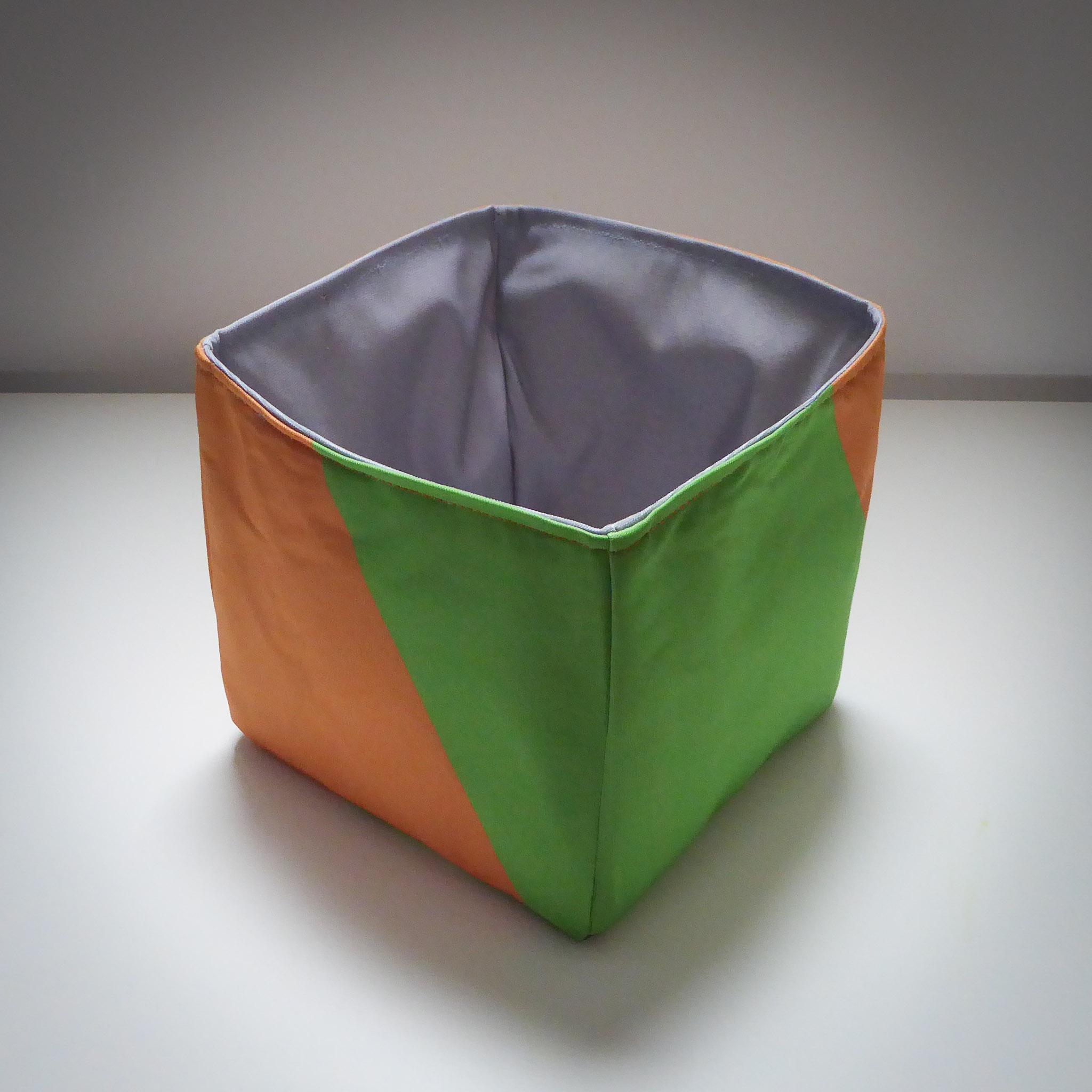 Fabric Storage Box… Orange & Green