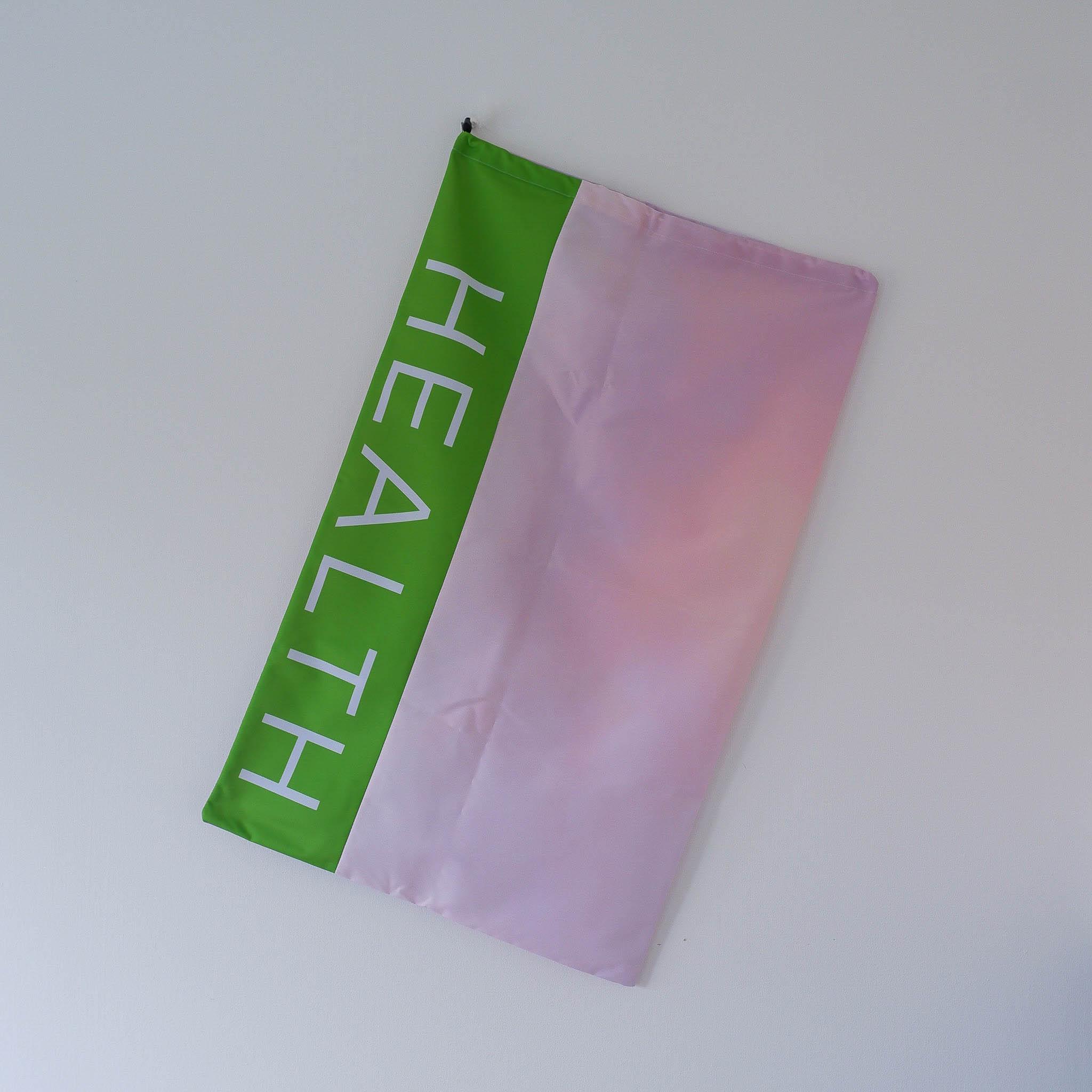 "Large Drawstring Bag… ""Health"""