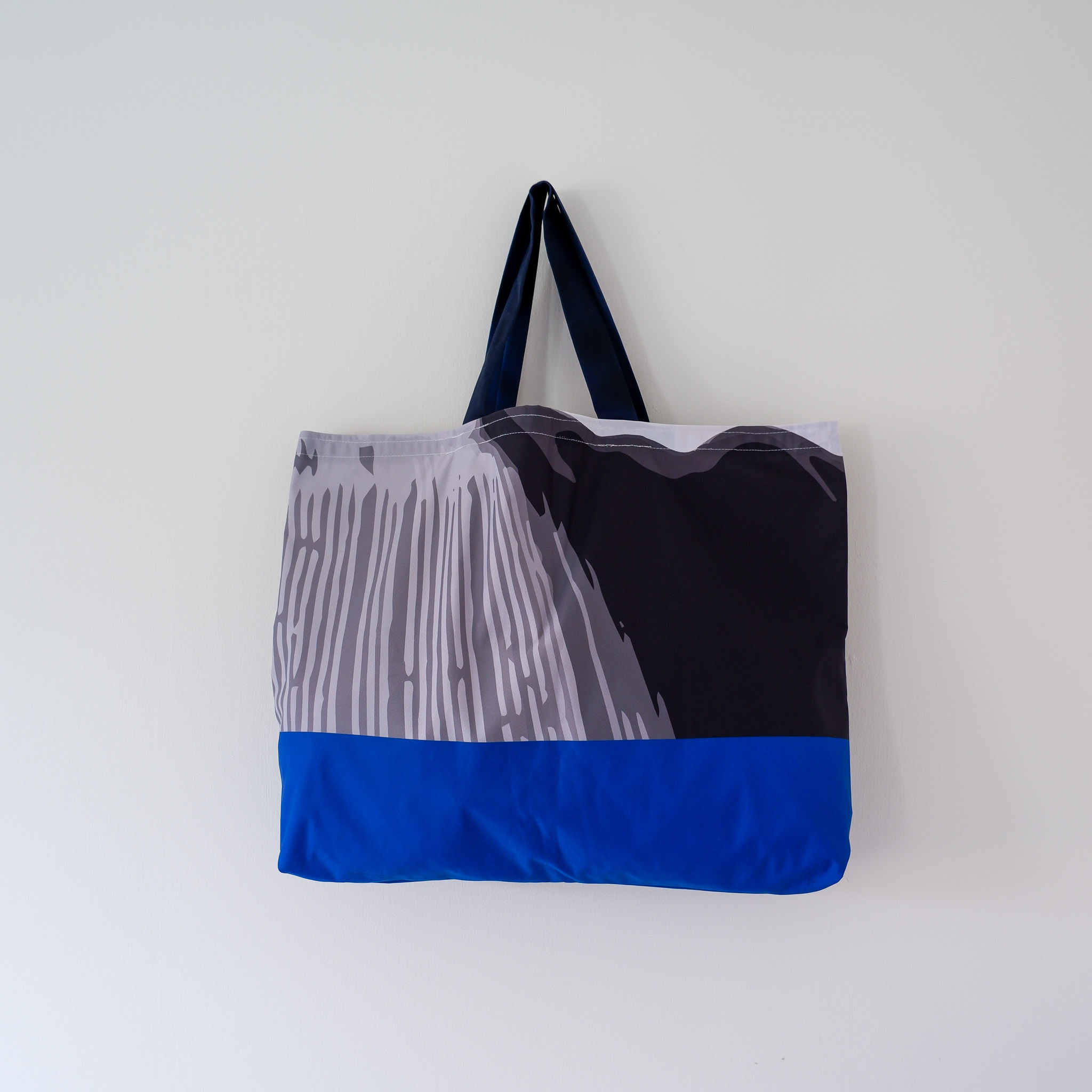 Tote Bag… Blue & Grey Stripe
