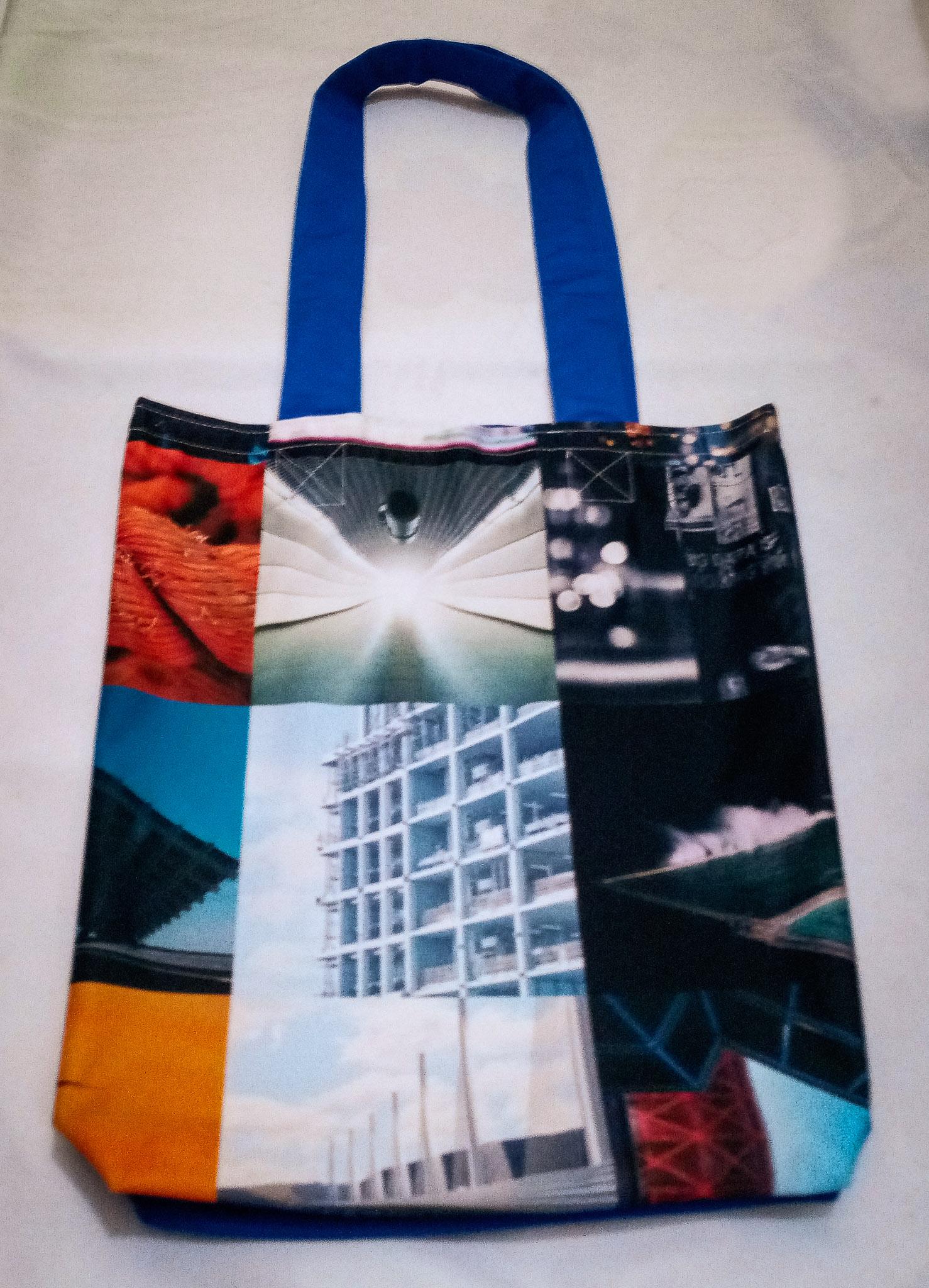 Handmade Fabric Tote Bag, Square Photos