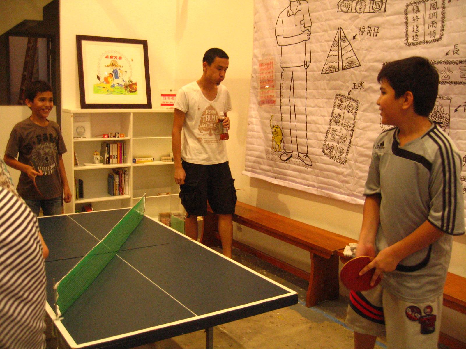 歡樂乒乓,開放空間,閒來一坐