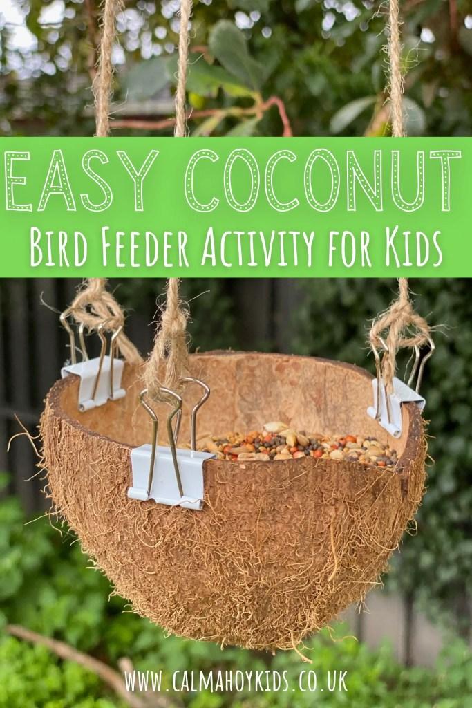 Easy Coconut Bird Feeder.