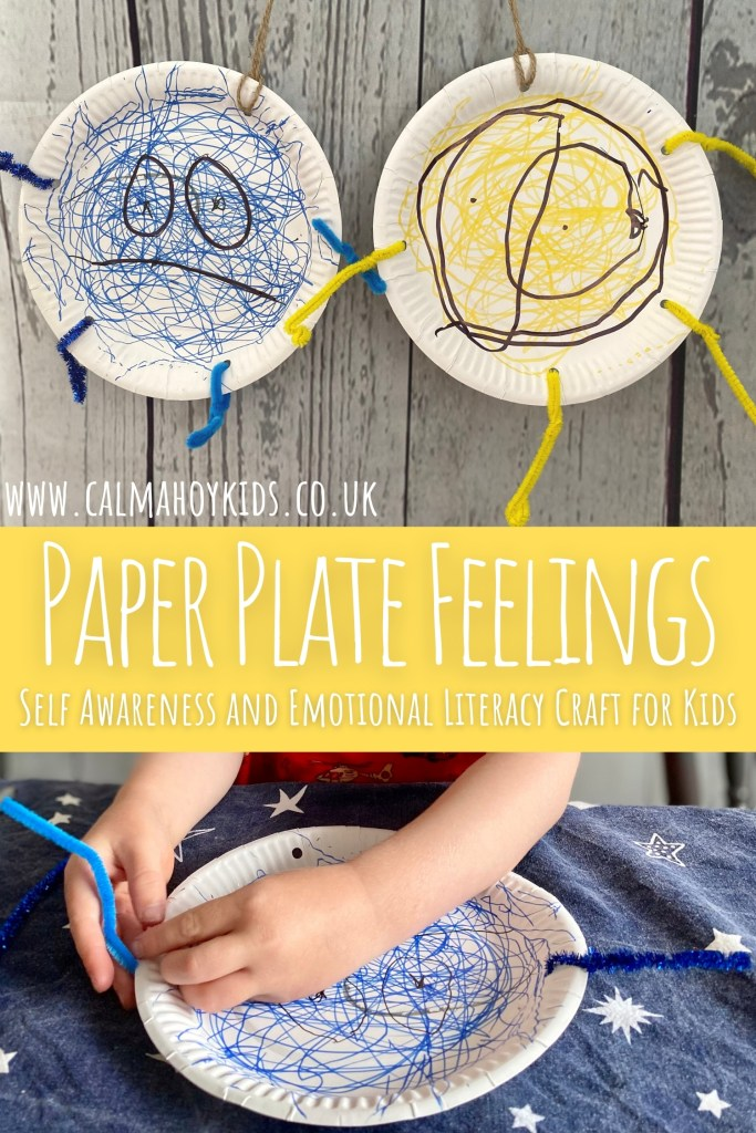 Easy Paper Plate Feelings Activity for Kids - Self Awareness and emotional literacy