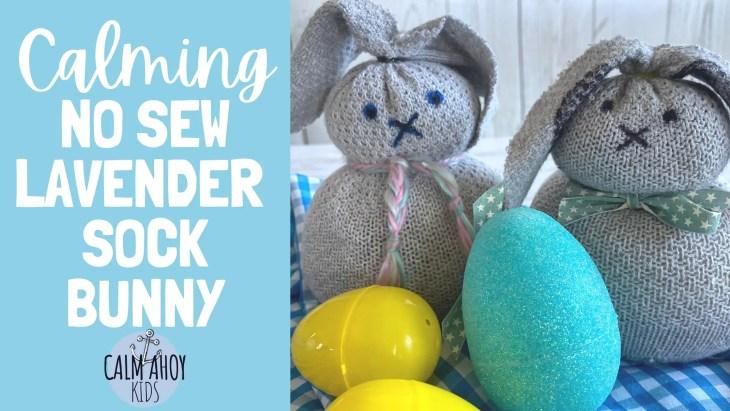 calming no sew lavender sock bunny