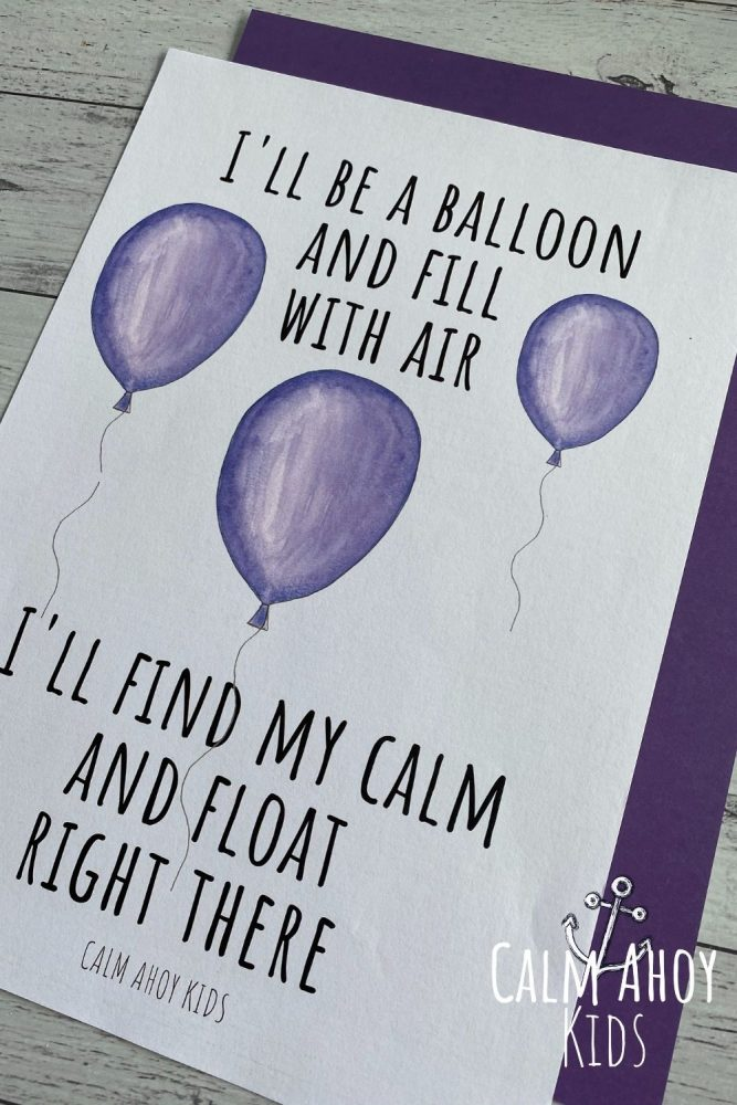 Balloon Breaths Breathing Activity for the classroom
