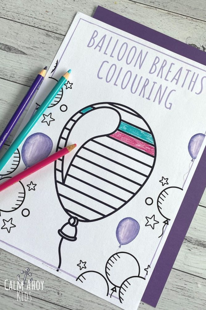 Mindful Breathing Colouring free Printable