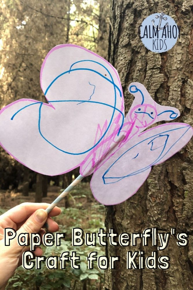 Easy Mindful Movement Craft - Paper Butterflies Craft for Kids