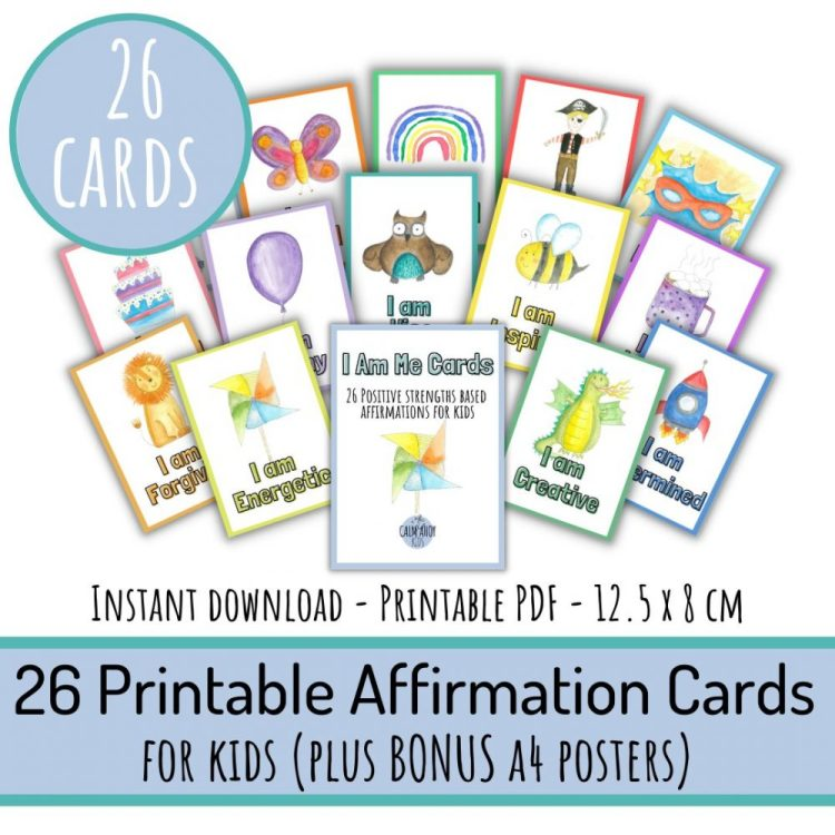 26 Strengths Based Affirmations and Activities for Kids